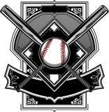 Baseball-oder Softball-Feld mit Hieben Stockfotos