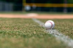 Free Baseball On Foul Line Background Stock Images - 117472424