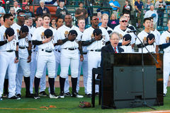 Baseball Opening Day.  Charleston, SC. Stock Photo