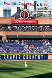Baseball - Outfield at Turner Field Atlanta Royalty Free Stock Photos
