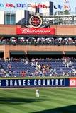 Baseball - Outfield at Turner Field Atlanta royalty free stock photos