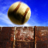 Baseball Over the Fence for Homerun Royalty Free Stock Photos