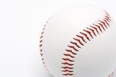 Baseball på en vit bakgrund Arkivbild