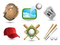 Baseball paraphenalia Royalty Free Stock Photos