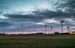 Baseball Park At Dawn Stock Photos