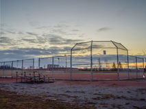 Baseball Park At Dawn. Sunrise over the diamond Royalty Free Stock Photo