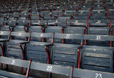 Baseball park seats Stock Photo