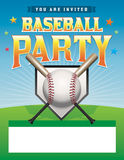 Baseball Party Flyer Illustration Stock Image