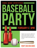 Baseball Party Flyer Template Illustration Stock Images