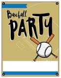 Baseball Party Invitation Template Illustration Stock Photos
