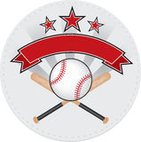 Baseball patch. Red and grey baseball patch design vector illustration