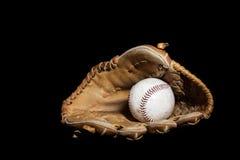 Baseball piłka i rękawiczka zdjęcie stock