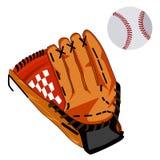 Baseball piłki i rękawiczki wektorowa płaska ilustracja ilustracja wektor