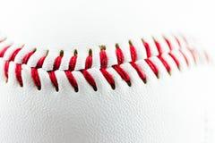 Baseball piłki szczegół Fotografia Stock