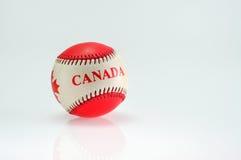 Baseball piłka z motywem Zdjęcie Royalty Free