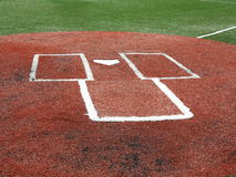 Baseball - piatto domestico e la scatola della pastella Fotografie Stock Libere da Diritti
