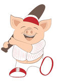 Baseball pig Royalty Free Stock Images