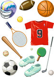 Baseball, Ping-pong, Tennis, Basketball, Golf Lizenzfreies Stockfoto