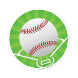 Baseball with Pitch Markings Royalty Free Stock Image