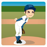 Baseball Pitcher Royalty Free Stock Photography