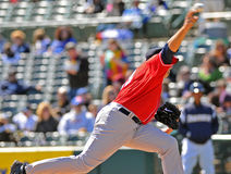Baseball pitcher - delivery Stock Photography