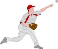 Baseball pitcher, detailed illustration. Vector Royalty Free Stock Image