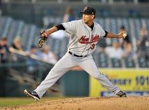Baseball pitcher - lefty Stock Photography
