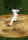 Baseball - pitcher pitching Stock Images