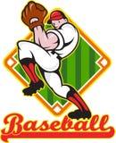 Baseball Pitcher Player Pitching Diamond Royalty Free Stock Photo