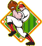 Baseball Pitcher Player Pitching Diamond Royalty Free Stock Photos
