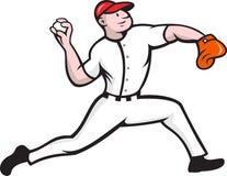 Baseball Pitcher Player Throwing Royalty Free Stock Image