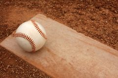 Baseball on the Pitchers Mound stock photography