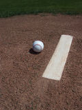 Baseball and Pitchers Mound royalty free stock image