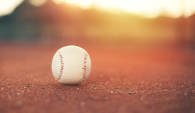 Baseball on pitchers mound Royalty Free Stock Images