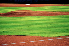 Baseball pitchers mound Stock Photo