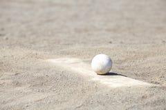 Baseball on the Pitchers Mound Stock Photo