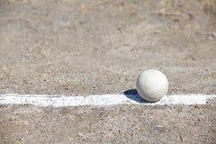 Baseball on the Pitchers Mound Royalty Free Stock Photography