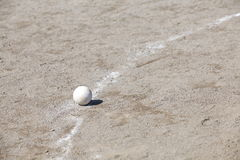 Baseball on the Pitchers Mound Royalty Free Stock Photo