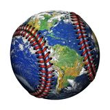 Baseball-Planeten-Erde Lizenzfreie Stockfotos