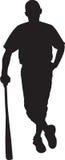 Baseball Player 03. A silhouette of a baseball player stock image