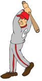 Baseball player. Cartoon of a baseball player Royalty Free Stock Image