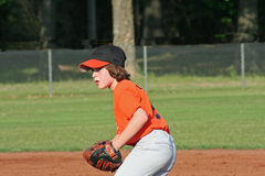 Baseball player. A young baseball player during a game Stock Photos