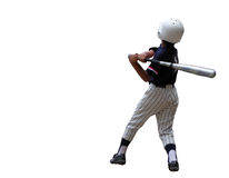 Baseball player. A boy playing baseball-isolation Royalty Free Stock Images