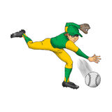 Baseball Player. Image of a baseball player throwing a fastball Stock Photography