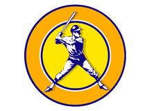Baseball player. Illustration of a baseball player in action Stock Images