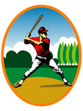 Baseball player. Illustration of a baseball player in action Stock Photo