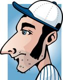 Baseball Player. A profile view of a baseball player Stock Images