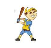 Baseball player. Cartoon illustration of a baseball player Royalty Free Stock Images