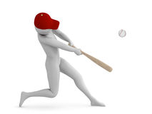 Baseball player. Hitting the ball Stock Images