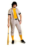 Baseball Player. A young male baseball player standing stock photo